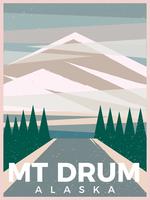Cartolina di montagna Drum Alaska