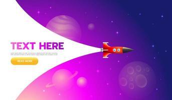 concetto di avvio. Icona di lancio di un razzo: può essere utilizzata per illustrare argomenti cosmici o l'avvio di un'impresa, il lancio di una nuova azienda vettore