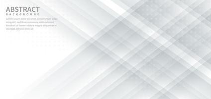 astratto diagonale sfondo grigio e bianco con decorazione a punti. vettore