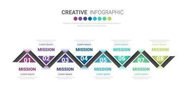 design sottile linea infografica e 8 opzioni o passaggi.
