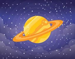 Anelli di Saturno Illustrazione vettore
