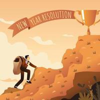 concetto di risoluzione del nuovo anno vettore