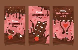 banner di cioccolato per san valentino vettore
