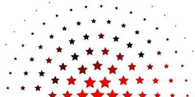 layout vettoriale rosso chiaro con stelle luminose.