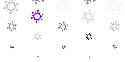 modello vettoriale viola chiaro, rosa con elementi di coronavirus