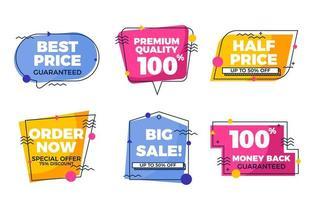 promozione della vendita per scopi di marketing vettore
