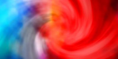 modello vettoriale multicolore chiaro con nuvole.