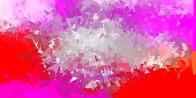 disegno poligono gradiente vettoriale rosa chiaro, giallo.
