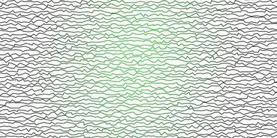modello vettoriale verde scuro con linee ironiche.