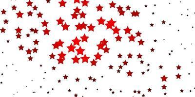 trama vettoriale rosso scuro con bellissime stelle