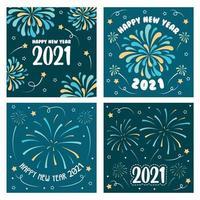 Carta dei fuochi d'artificio 2021 vettore