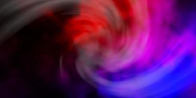 trama vettoriale rosa scuro, rosso con cielo nuvoloso.