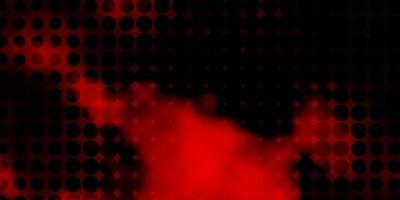 trama vettoriale arancione scuro con cerchi