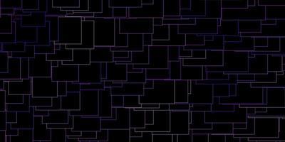 sfondo vettoriale viola scuro con rettangoli.