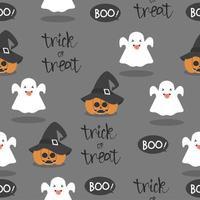 Fondo senza cuciture del modello del piccolo fantasma di Halloween vettore