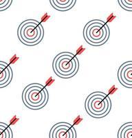 semplice rosso e blu bersaglio seamless pattern di sfondo