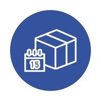 stile blocco servizio consegna scatola e calendario