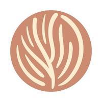 ramo con foglie boho stile disegnato a mano