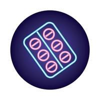 pillole sigillano droghe in stile neon