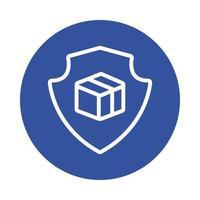 scudo con stile blocco servizio consegna scatola