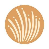 stile di tiraggio della mano di boho di erba