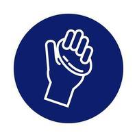 lavaggio delle mani con l'icona di stile blocco barra di sapone
