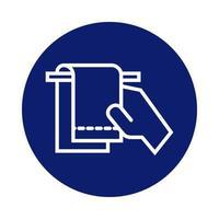 lavaggio a mano con l'icona di stile blocco asciugamani