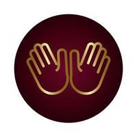 due mani segnale blocco stile gradiente