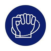 mani che lavano circolarmente icona di stile di blocco
