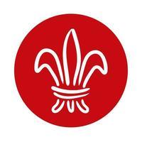 icona di stile blocco emblema vittoriano vettore