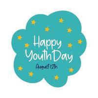 felice giornata della gioventù in stile piatto cloud