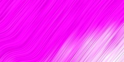 modello vettoriale viola chiaro, rosa con curve.
