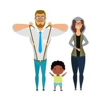 madre padre e figlio disegno vettoriale