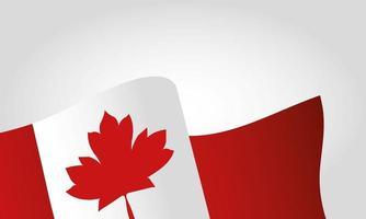 bandiera canadese per il disegno vettoriale felice giorno del canada