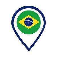 Bandiera del Brasile timbro sigillo piatto icona di stile