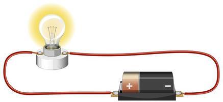 esperimento scientifico del circuito elettrico vettore