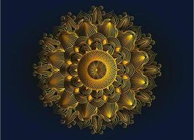 design mandala arabesco ornamentale, floreale e astratto dorato