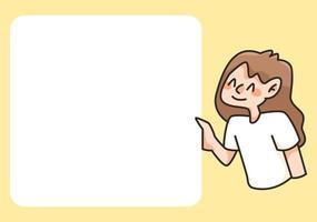 blocco note carino studente disegna torna a scuola per fare la lista delle note quotidiane vettore