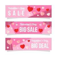 simpatica raccolta di banner di promozione di san valentino