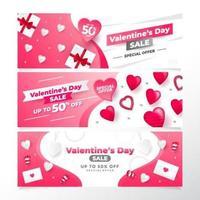 raccolta banner di San Valentino vettore