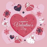 illustrazione del cuore rosa di San Valentino vettore