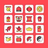 simpatiche icone del capodanno cinese