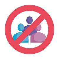 evitare l'icona isolata del segnale di folla