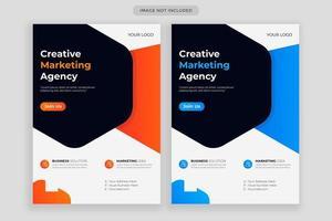 modello di progettazione volantino aziendale, copertina poster brochure creativa, volantino pronto per la stampa a4 a colori