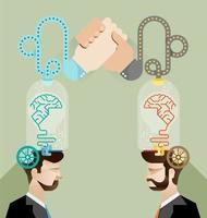 vettore di squadra di affari di brainstorming
