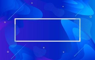 priorità bassa moderna di forma fluida blu astratta vettore