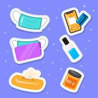 nuovo protocollo normale raccolta di adesivi per starter pack di tutti i giorni