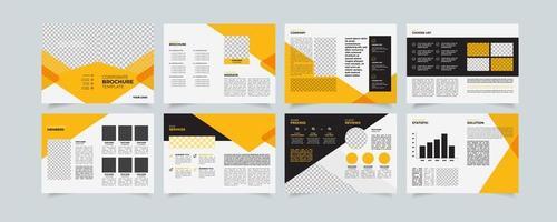 modello creativo di proposta aziendale, design brochure multiuso, design geometrico propsal aziendale, formato a4 verticale vettore