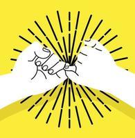 mignolo promette il gesto della mano vettore
