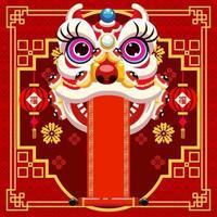 sfondo di festa per l'evento del capodanno cinese vettore